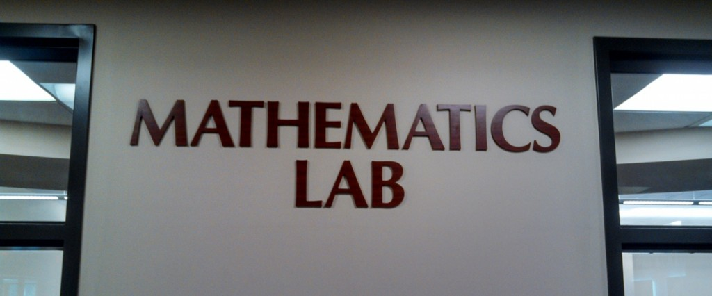 Mathematics Lab Welcome Area